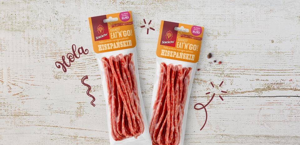 Spanish kabanos sausages