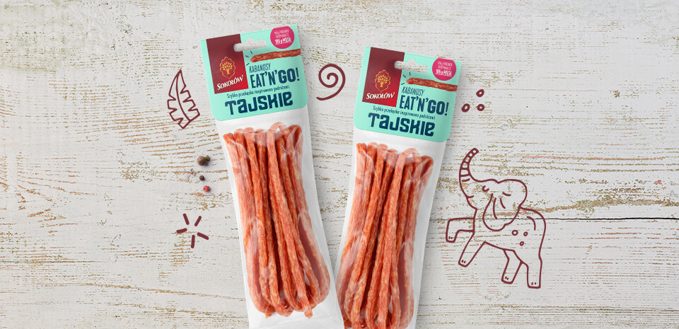 Thai kabanos sausages