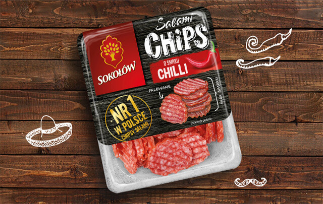 Salami chips chilli 60 g