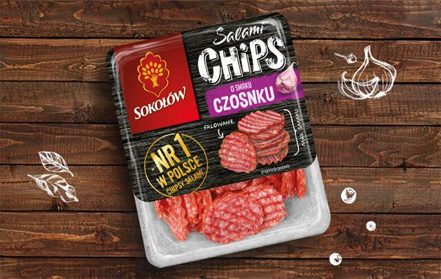 Salami chips czosnkowe 80g