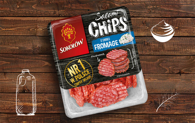 Salami chips fromage 60 g
