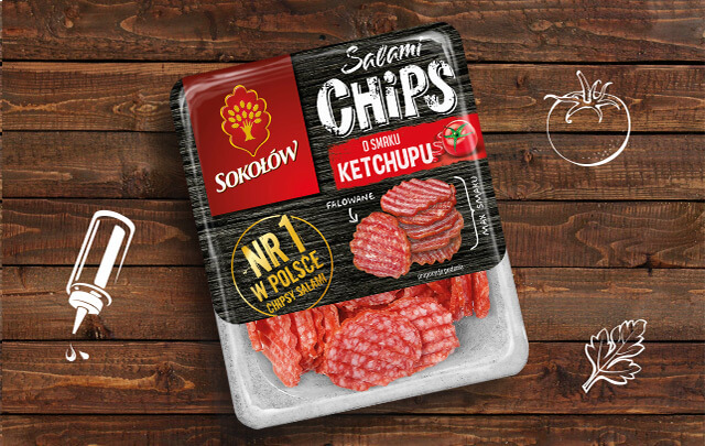 Salami chips ketchup 60 g