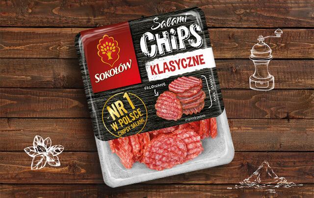 Salami chips klasyczne 60 g