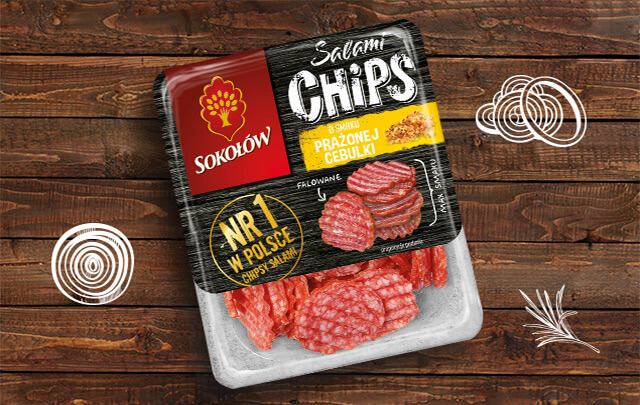 Salami Chips Roasted Onion flavour