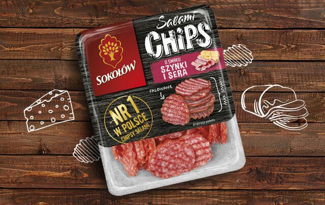 Salami chips szynka i ser 60 g