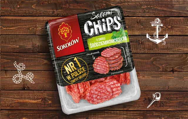 Salami Chips Mediterranean flavour